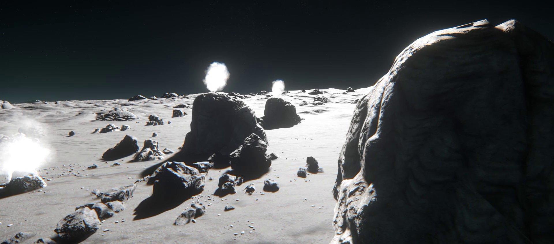 Powierzchnia księżyca Cellin w układzie Stanton