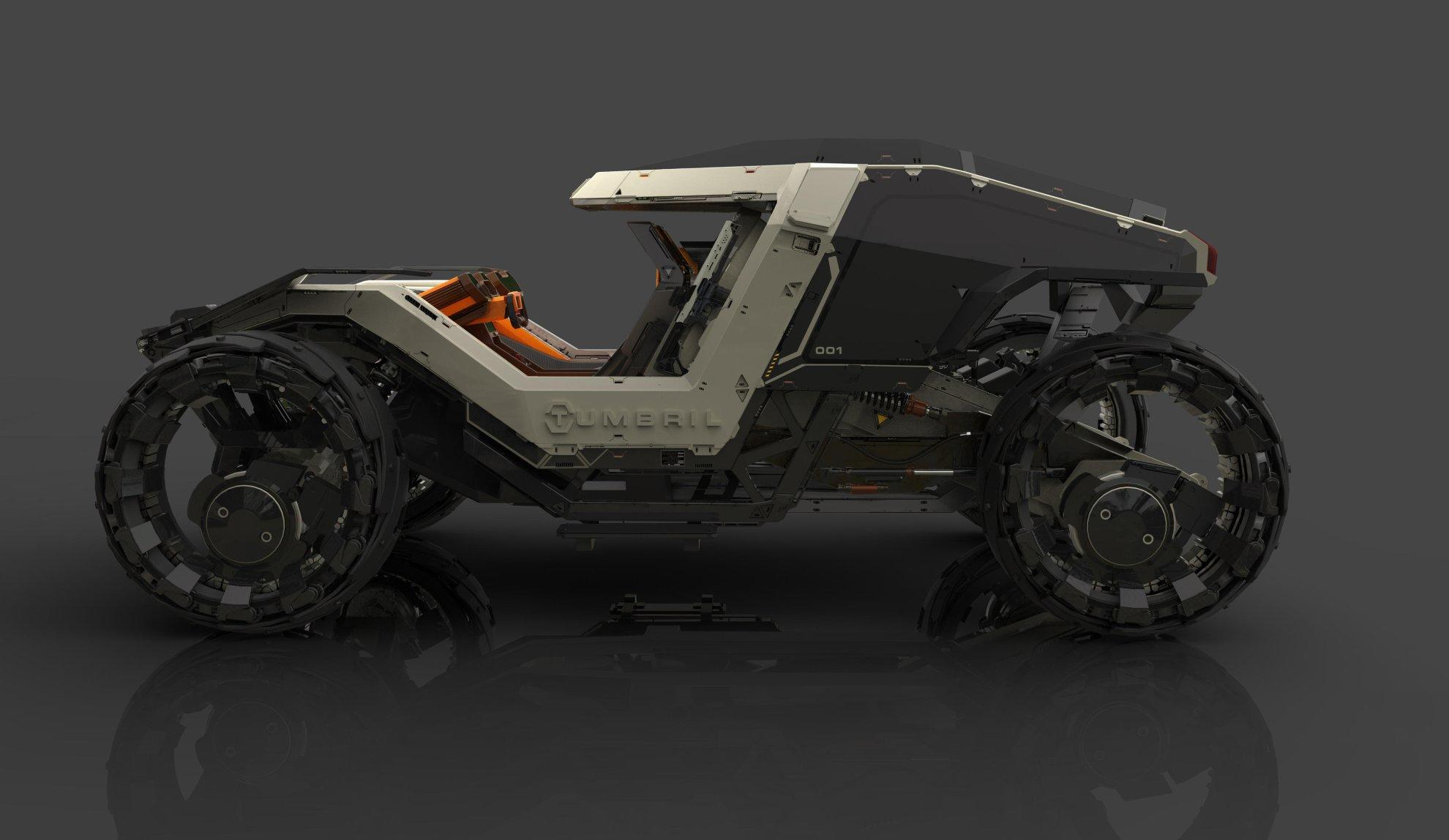 Tumbril Cyclone z boku
