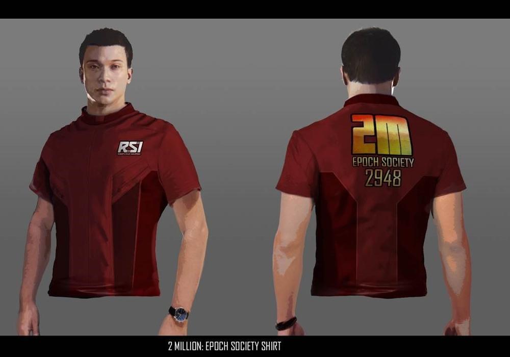 Star Citizen T-shirt dla pierwszego i drugiego miliona użytkowników
