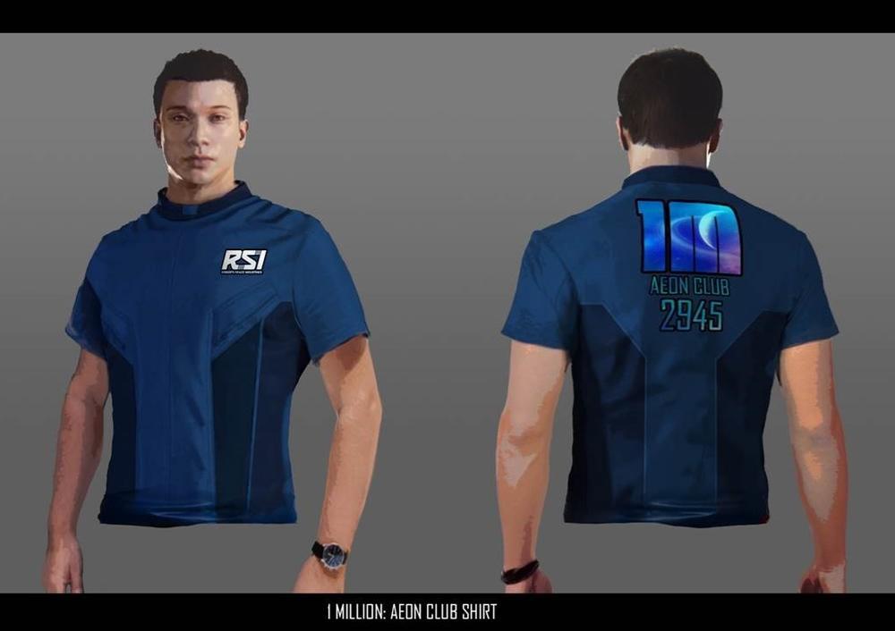 Star Citizen T-shirt dla pierwszego miliona użytkowników