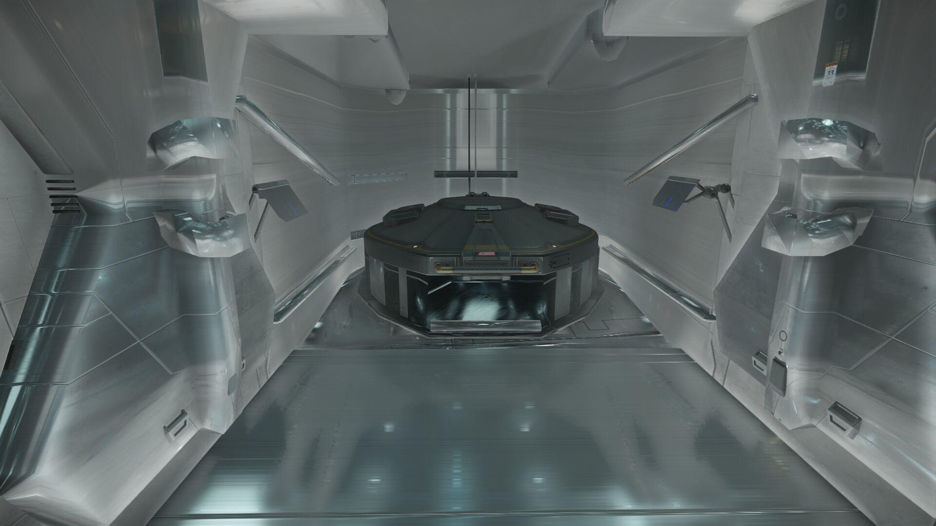 Wygląd wnętrza - siłownia statku