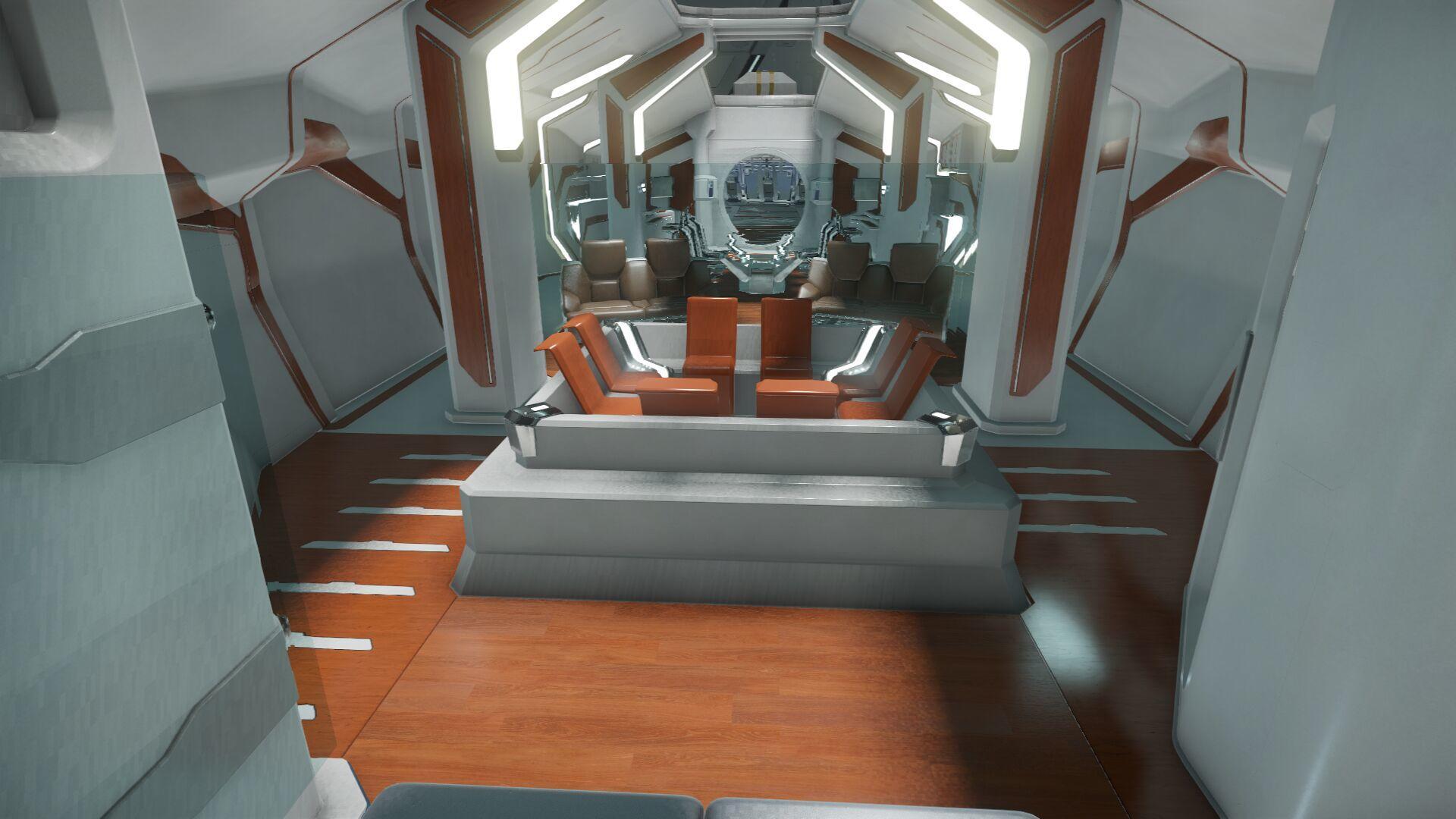 Wygląd wnętrza - główny pokład - sekcja dla gości - jakuzzi