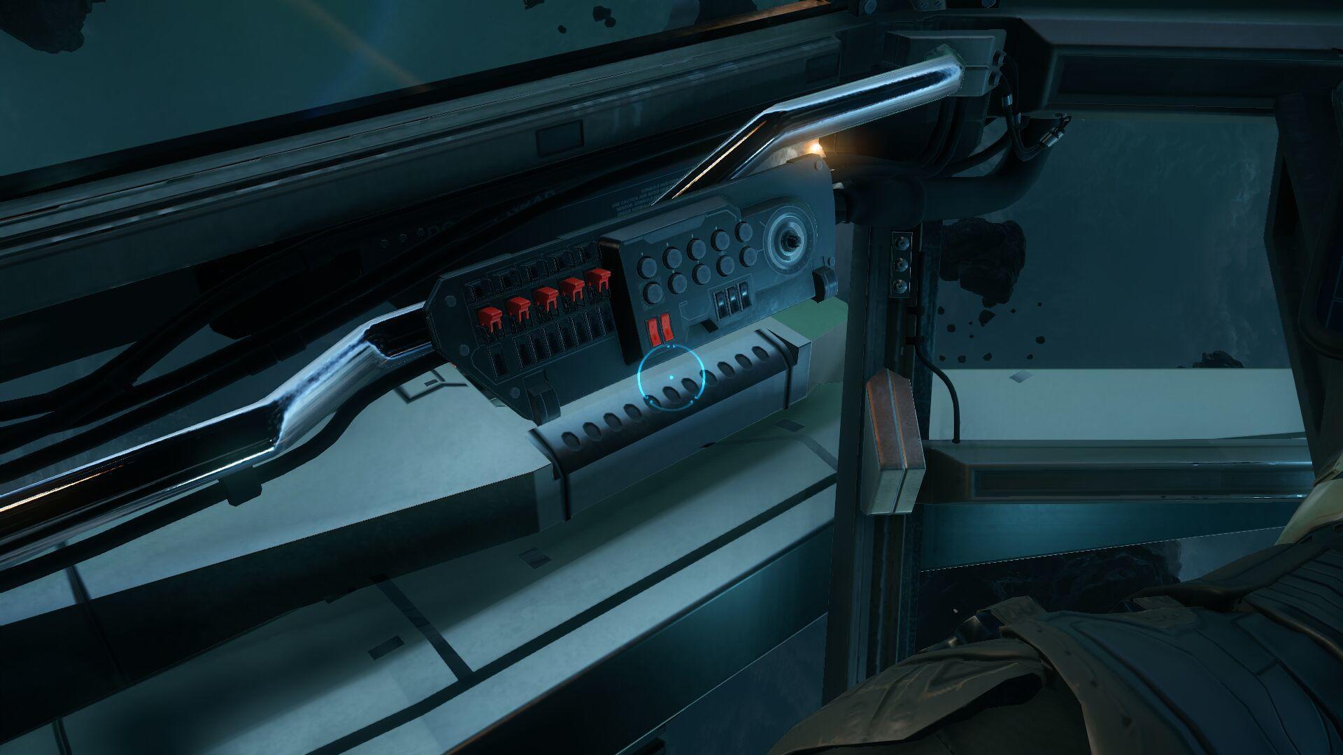 Wygląd wewnętrzny - kokpit - lewy panel przełączników