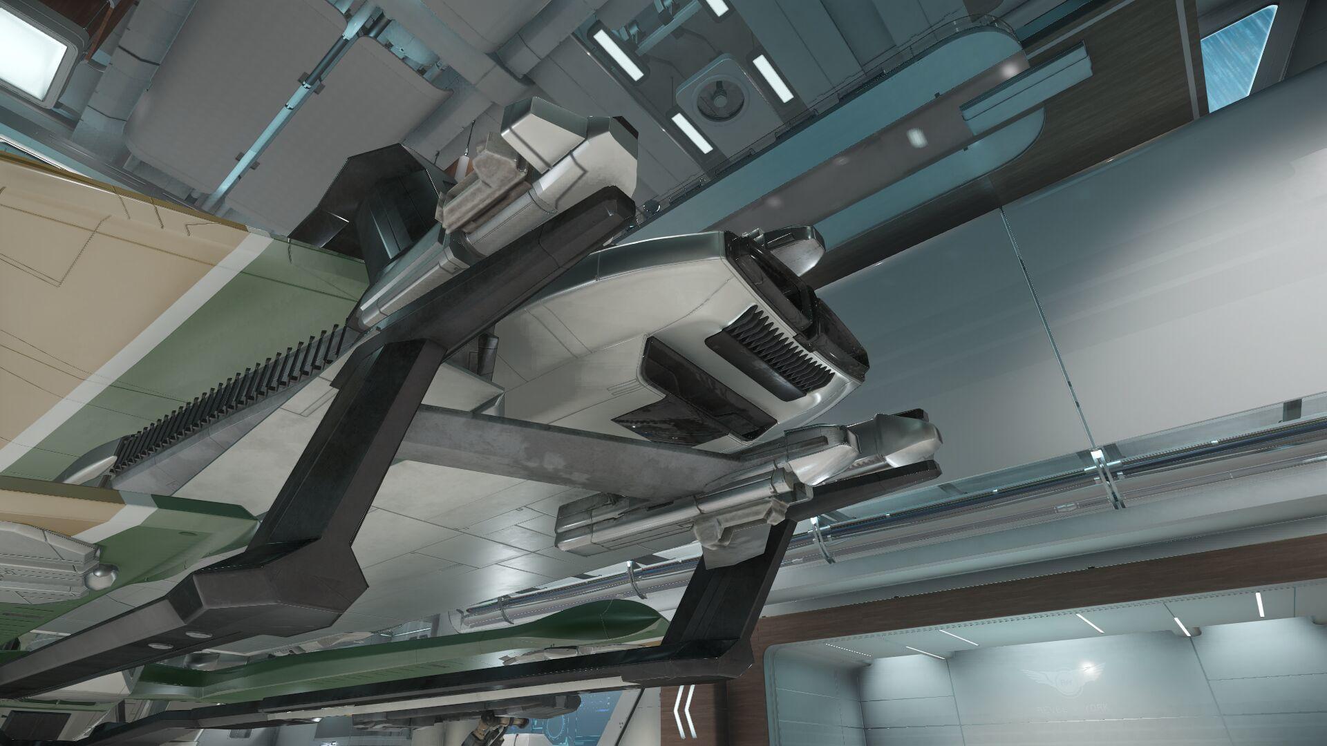 Wygląd zewnętrzny - tył - silnik główny i silniki manewrowe