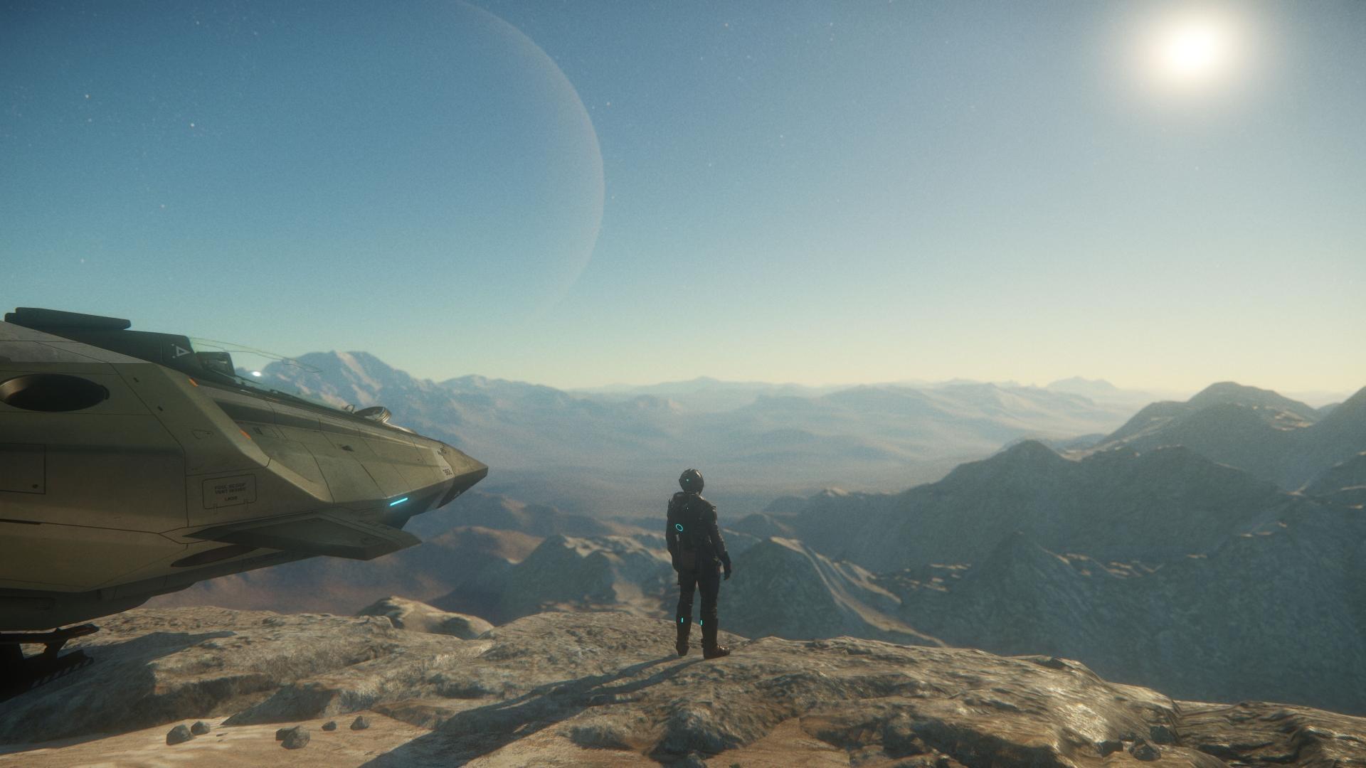 Aegis Gladius Landed On Planet In Game