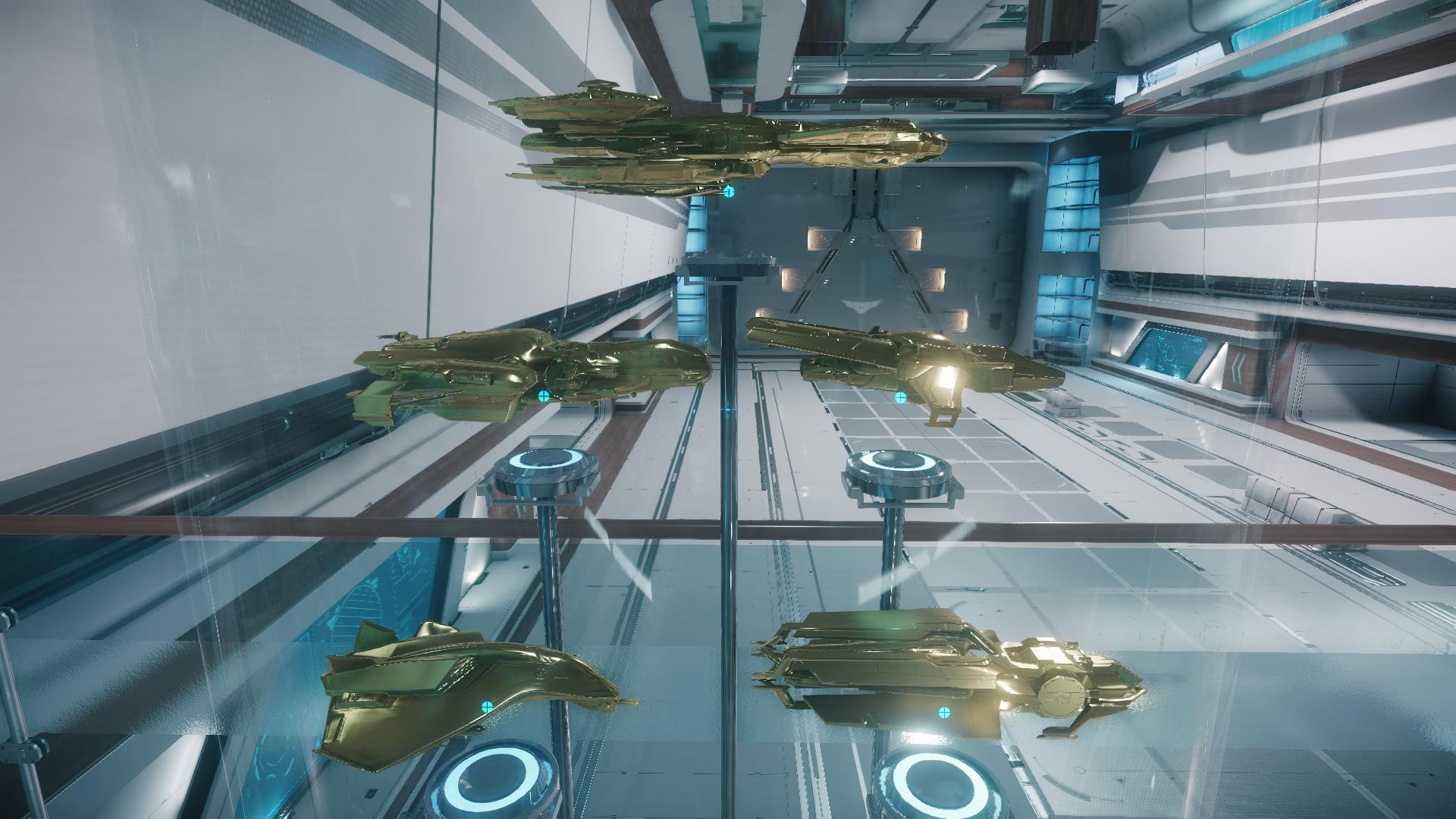 Złote statuetki statków