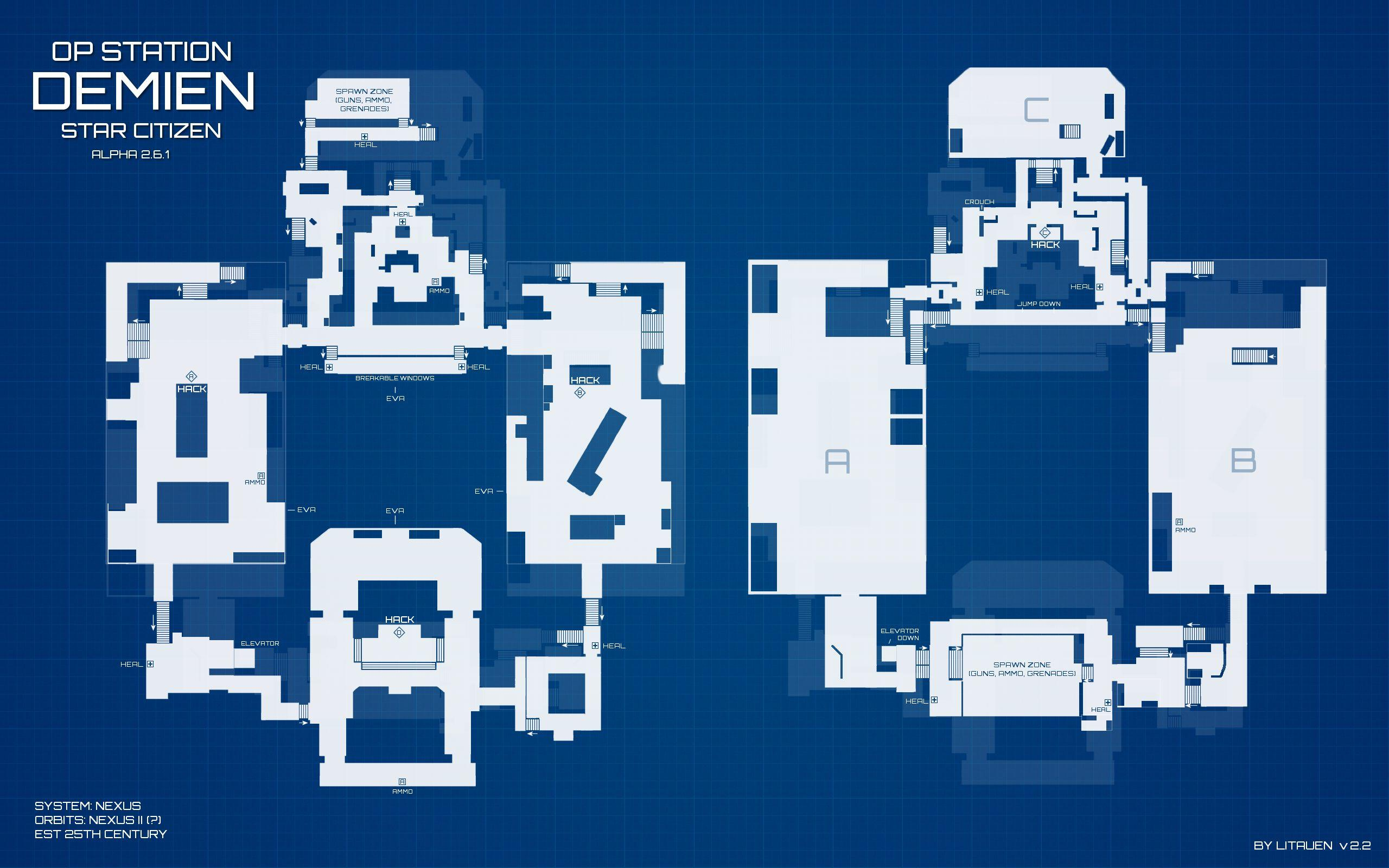 Star Marine Op Station Demien - mapa