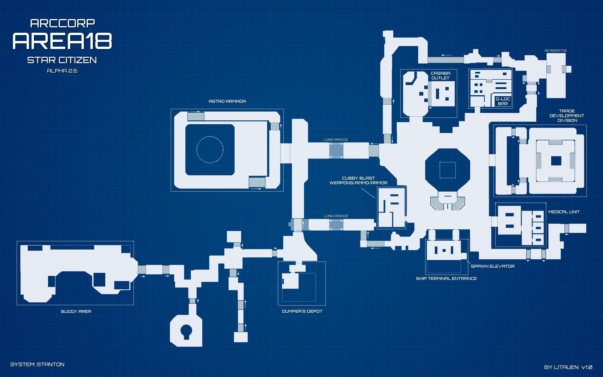 ArcCorp Area18 - plan