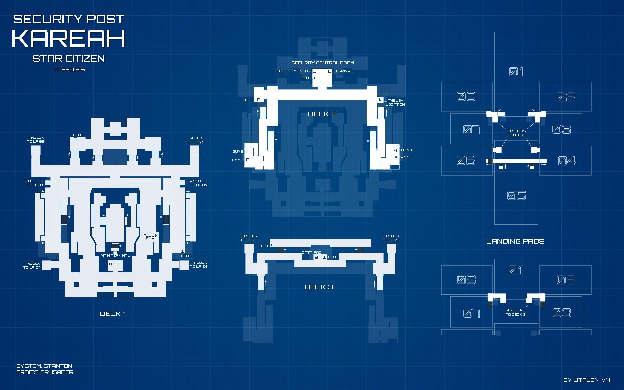 Security Outpost Kareah - plan