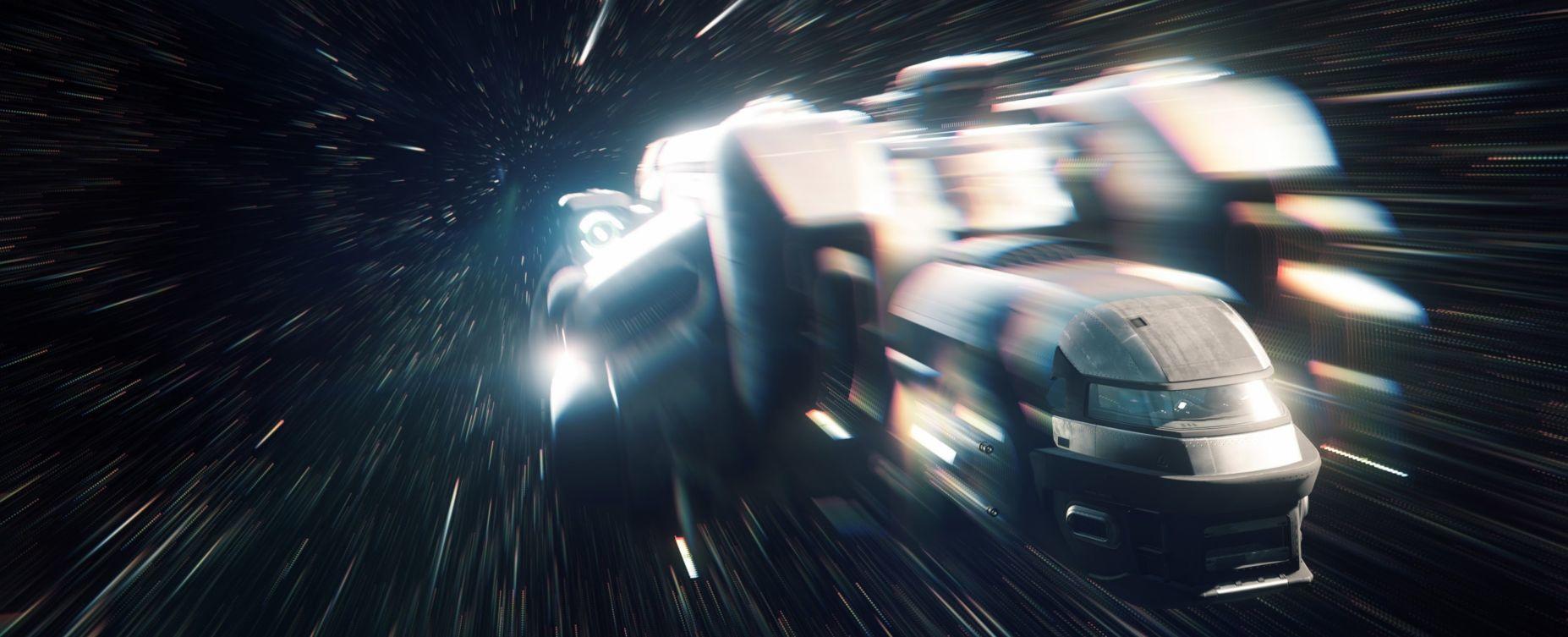 MISC Starfarer podczas lotu