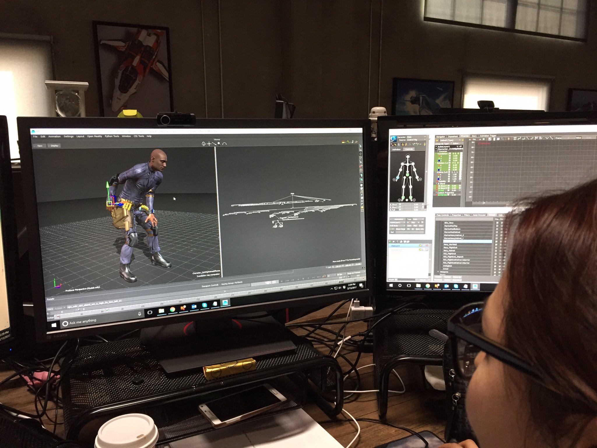 Praca nad animacjami robotników w grze