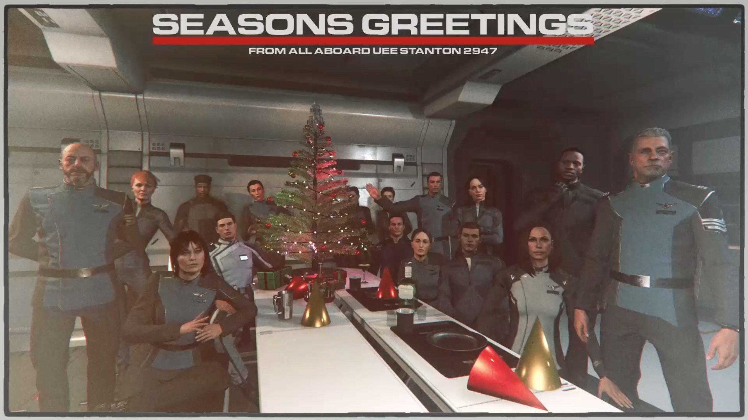 Pocztówka świąteczna od załogi UEE Stanton