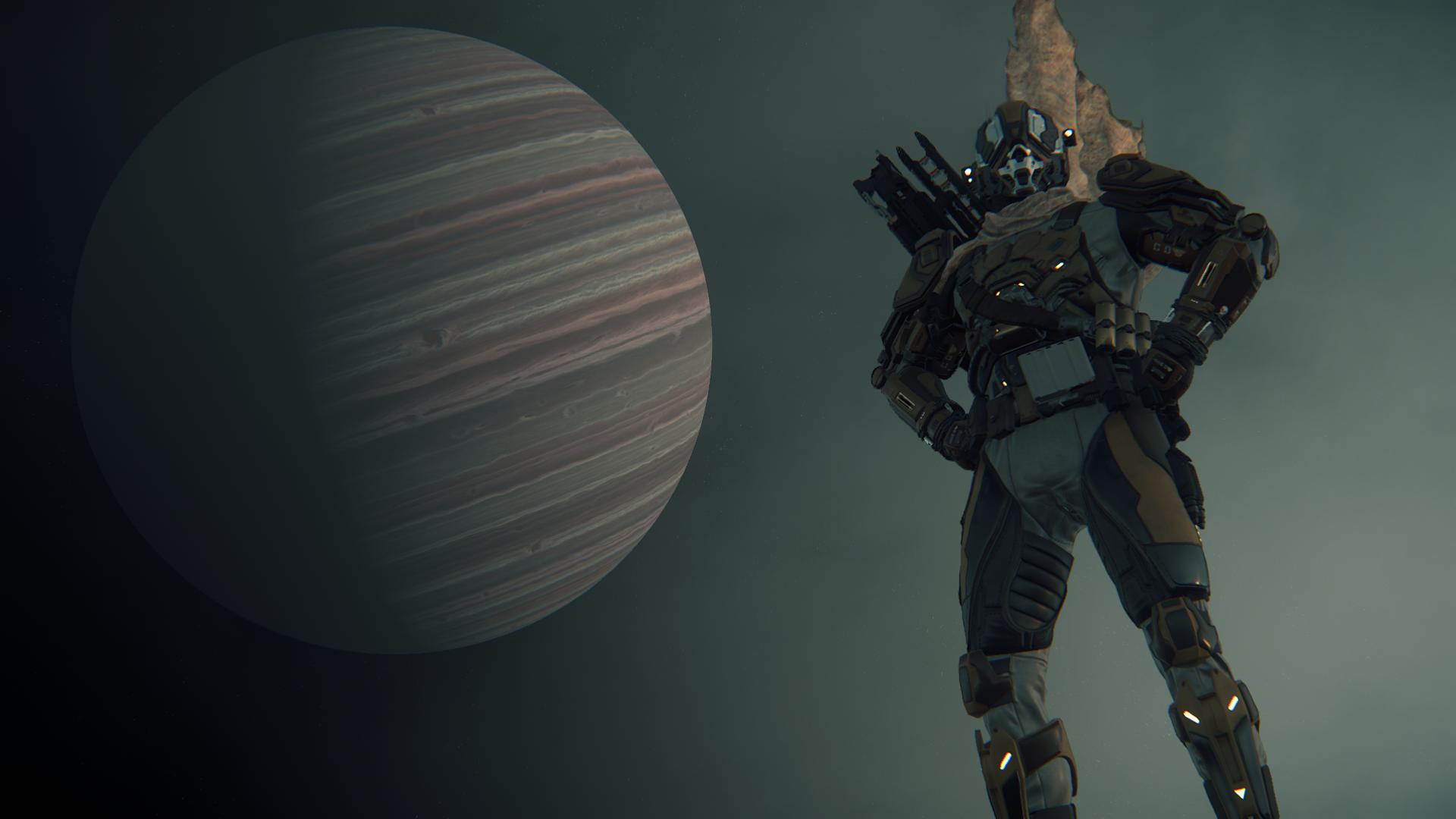 Star Citizen - Pozowanie na tle Crusader 1