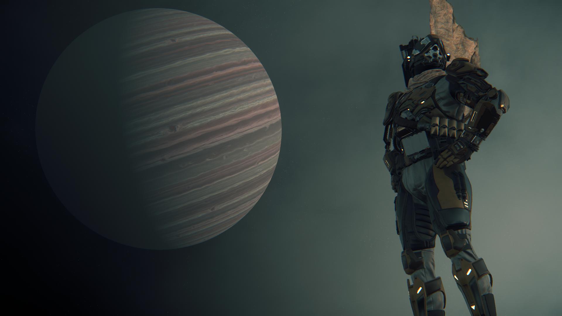 Star Citizen - Pozowanie na tle Crusader 2