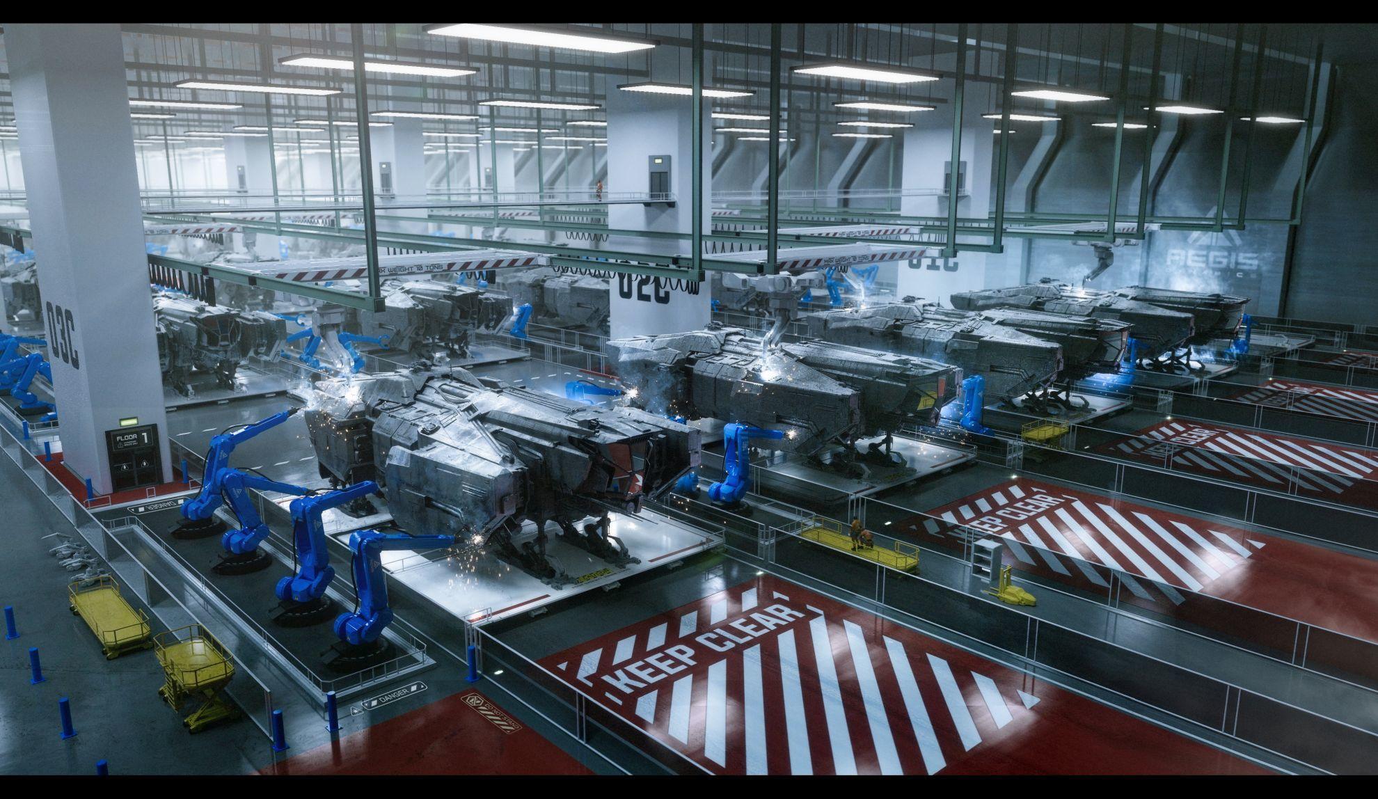 Aegis Vulcan - linia produkcyjna