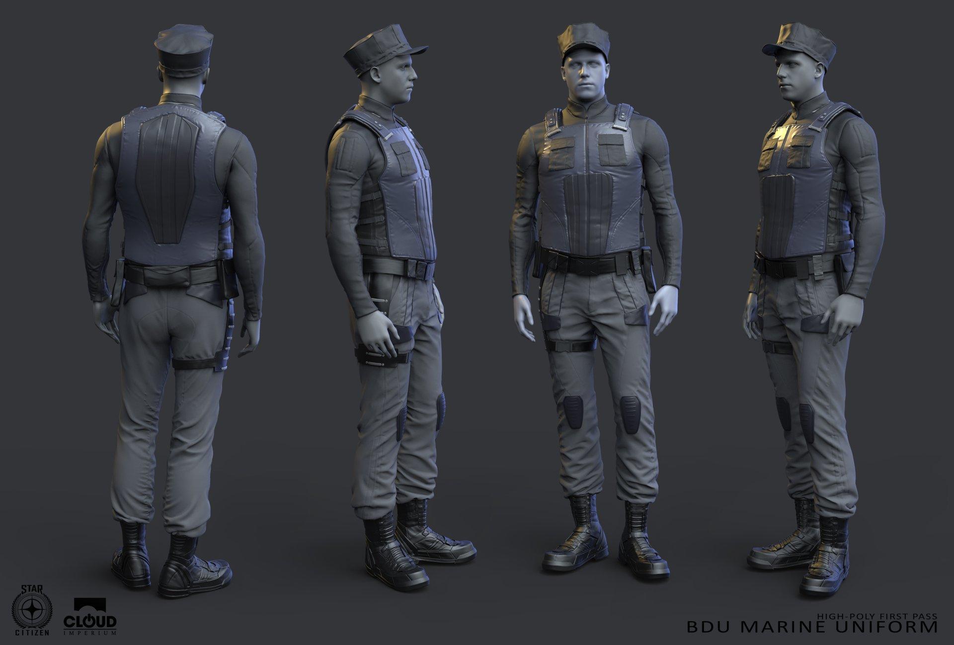 Battle Dress Uniform - Marine
