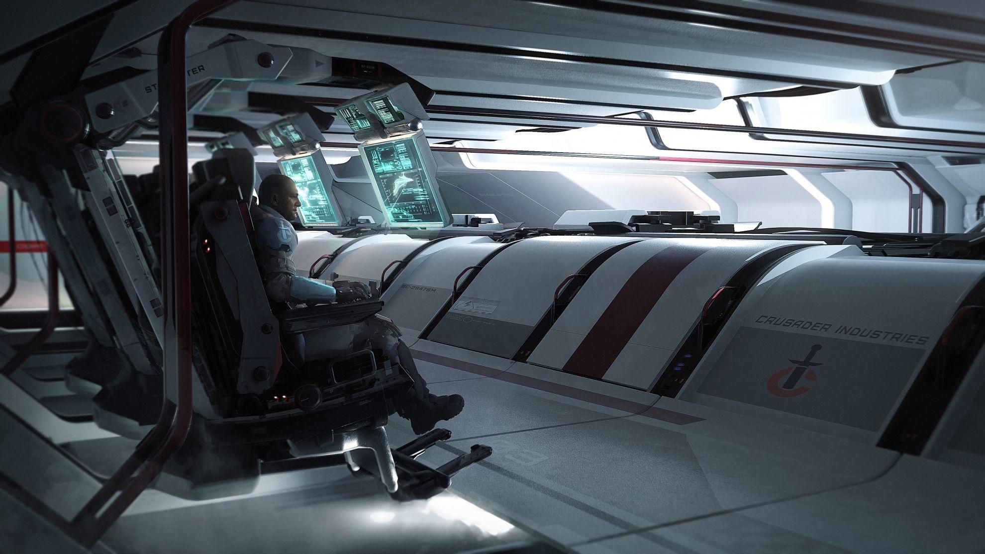 Crusader Industries Hercules Starlifter - stanowiska obsługi uzbrojenia