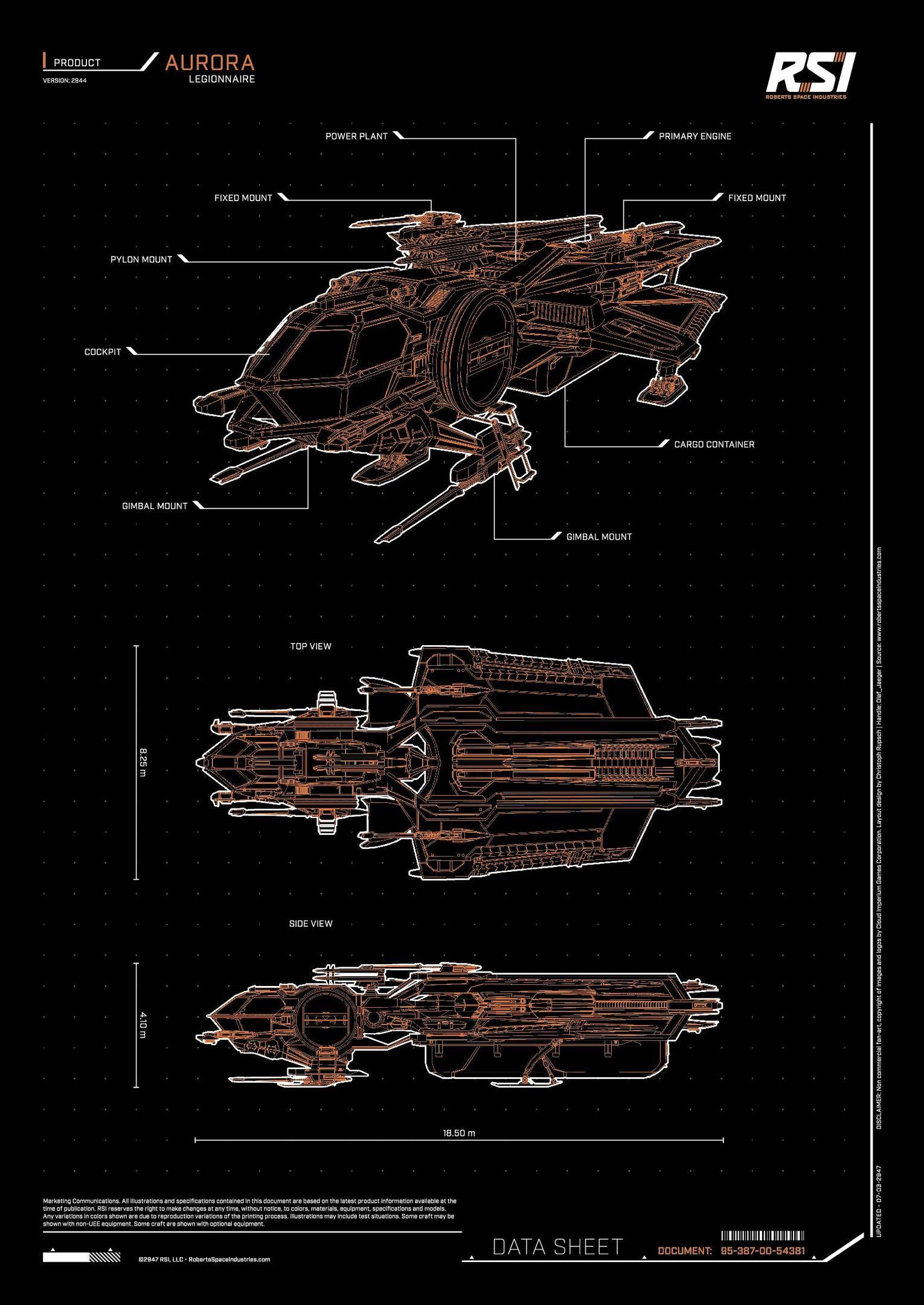 Plakat RSI Aurora Legionnaire