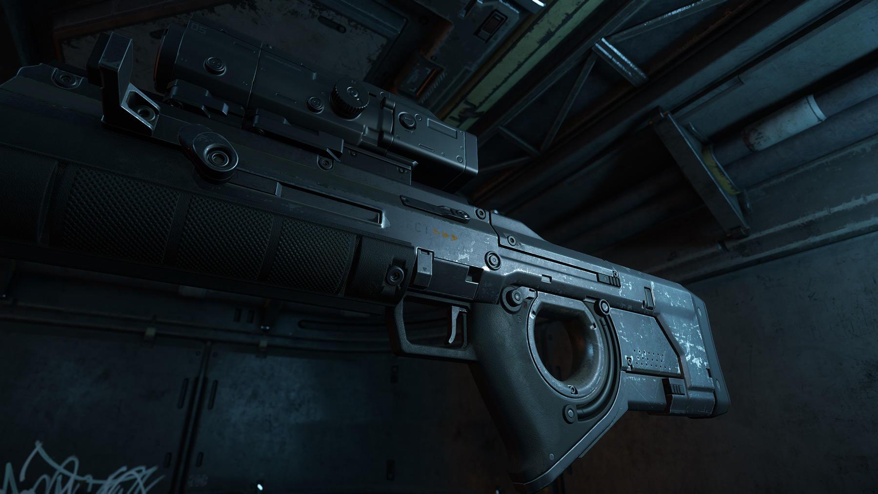 Klaus und Werner sniper rifle aged zbliżenie
