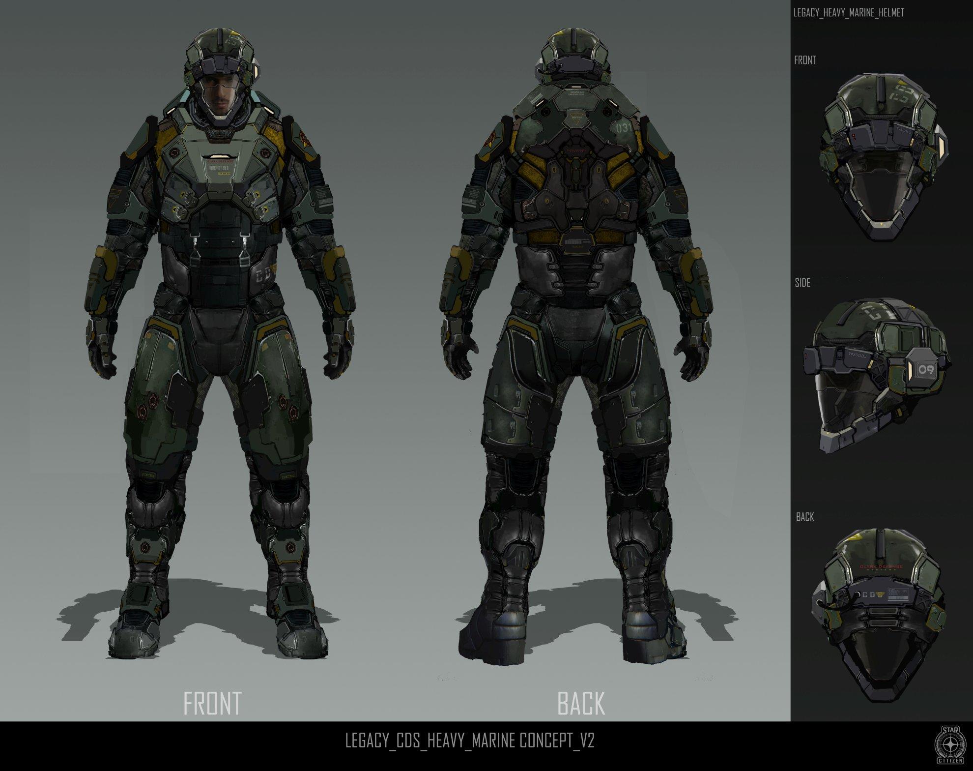 Legacy Heavy Marine Armor Concept