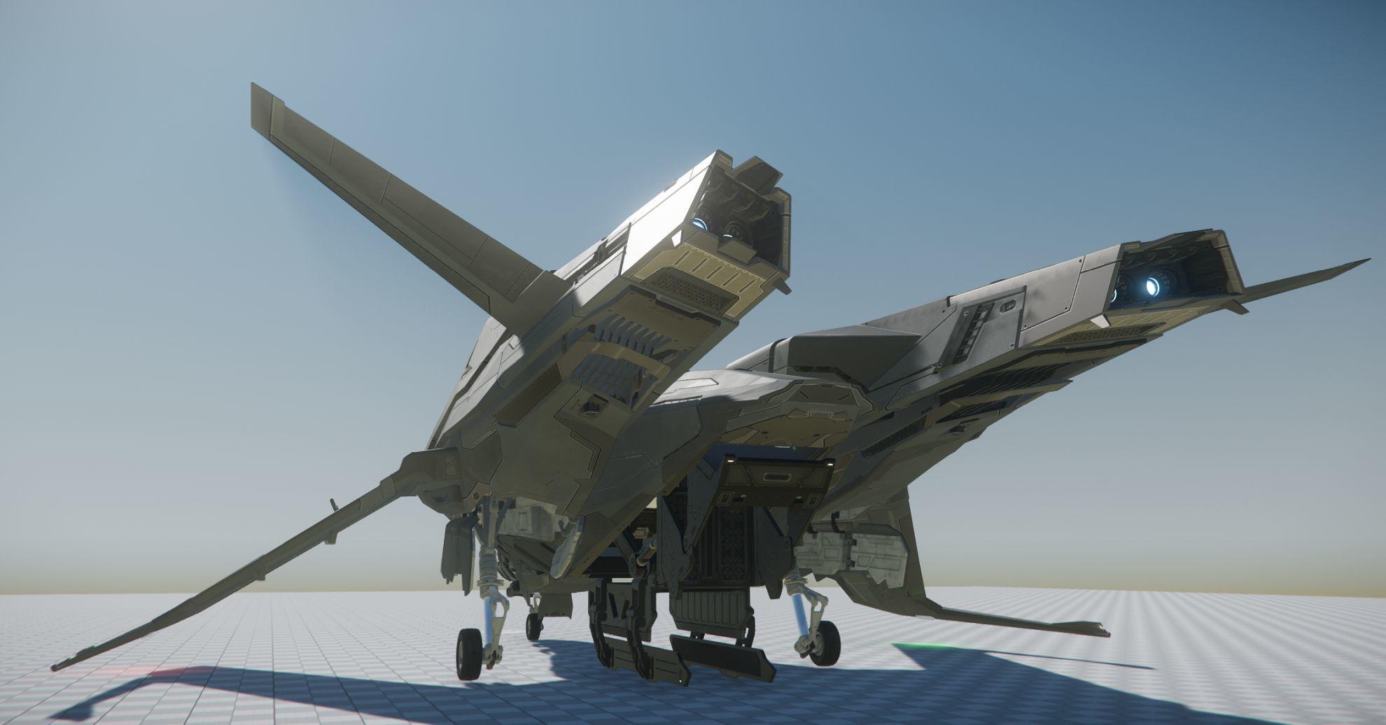 Mustang Alpha - rework, widok z tyłu