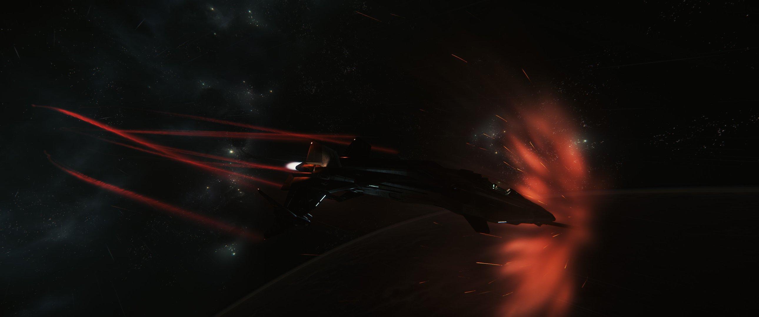 Gladius podczas wchodzenia w atmosferę