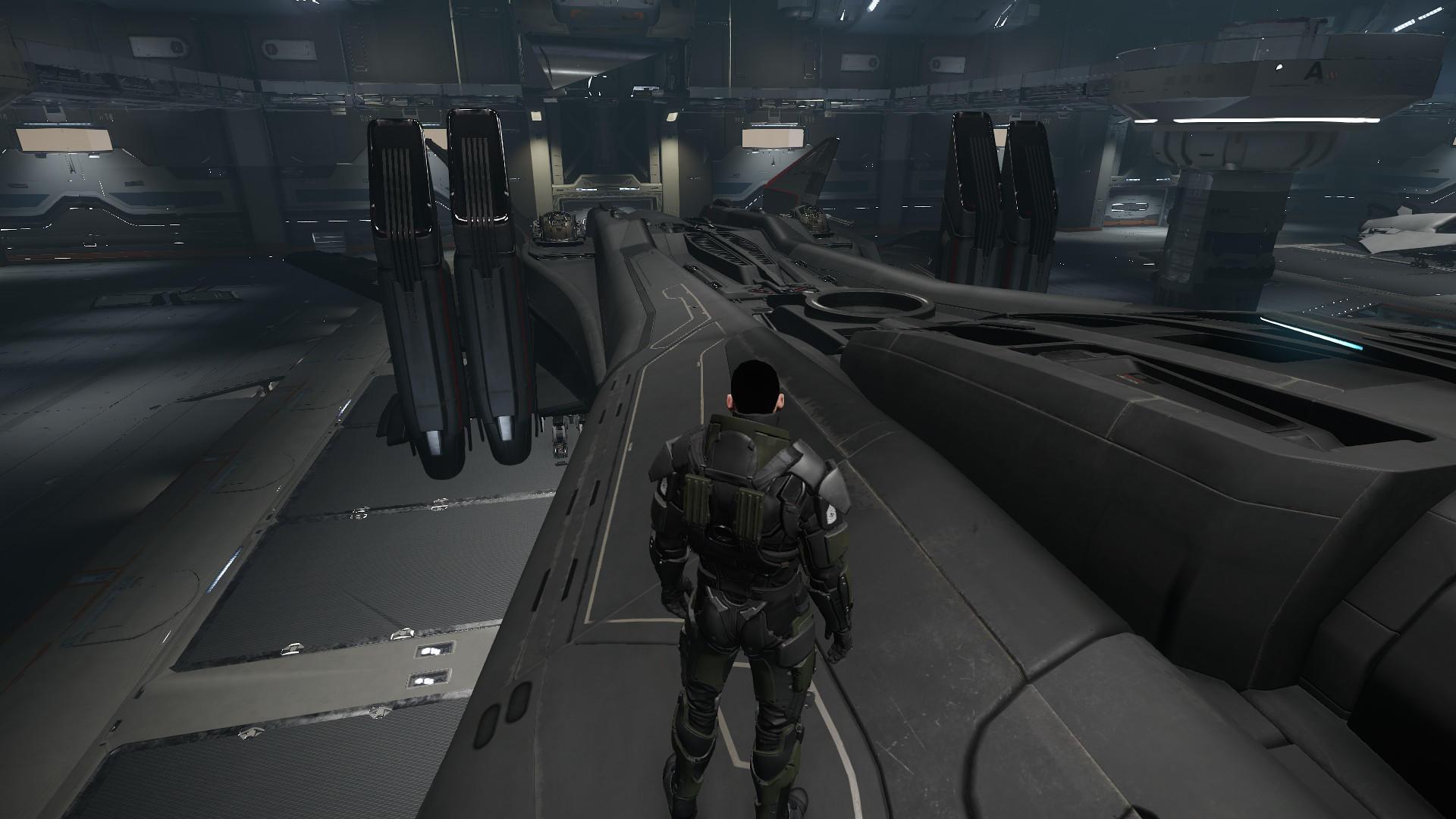 Retaliator widok na kadłub.