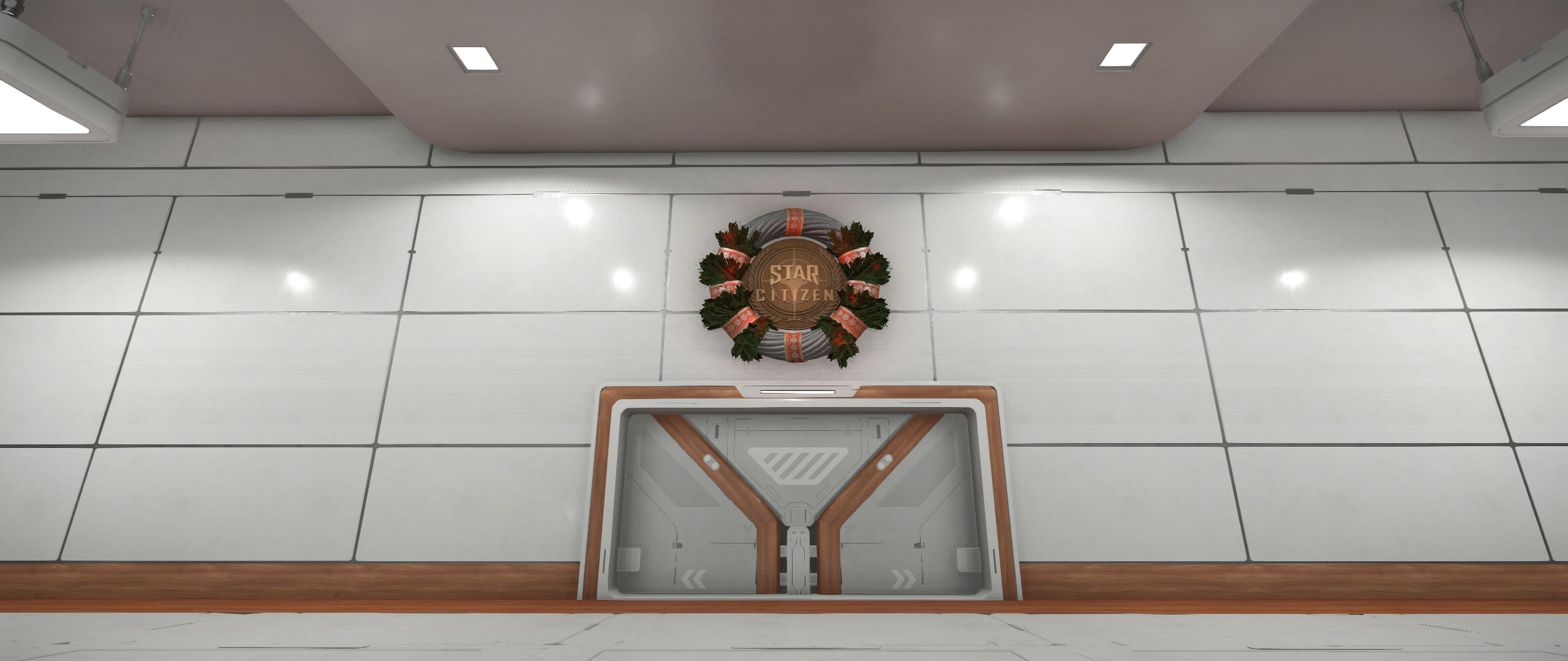 Świąteczne dekoracje w hangarze Revel & York