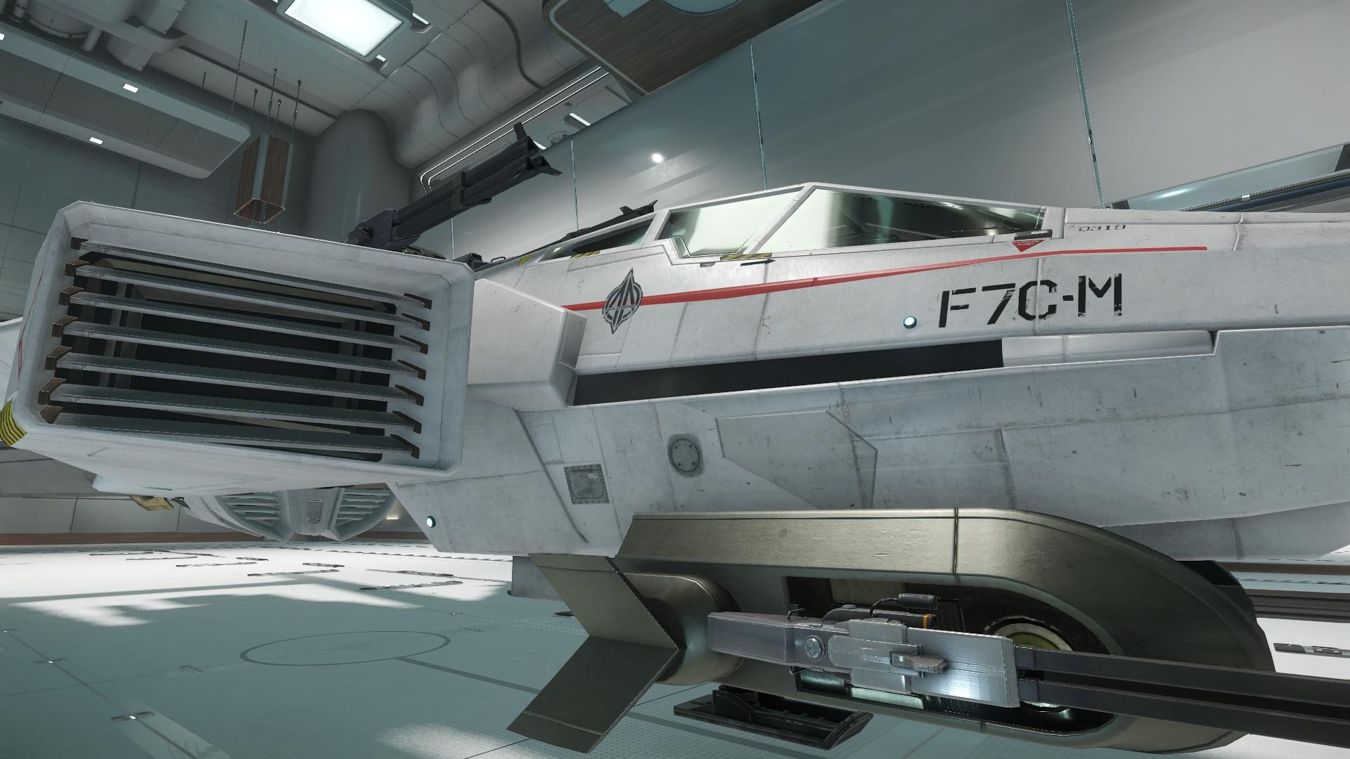 Super Hornet widok na kokpit i wlot powietrza