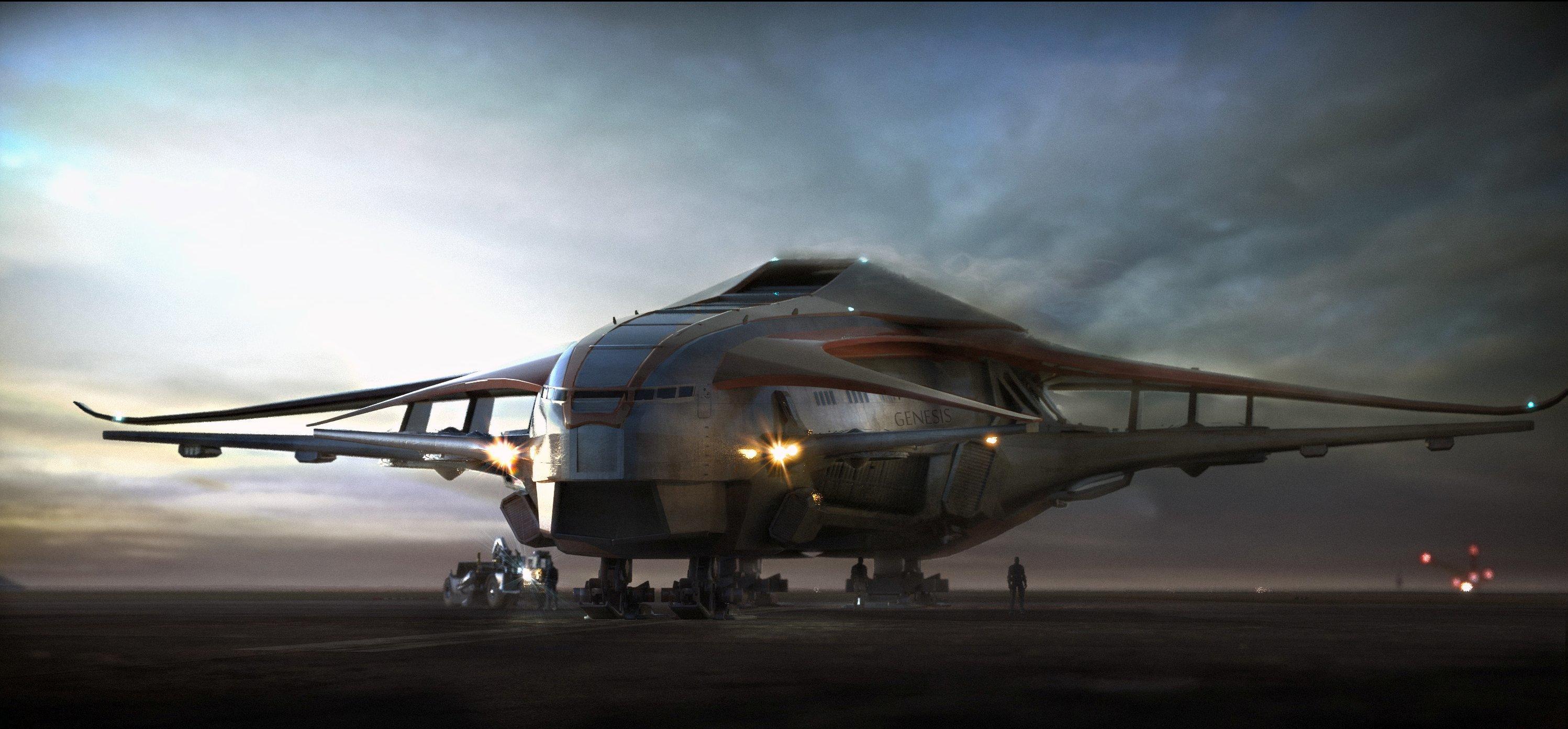 Crusader Industries Starliner na pasie startowym