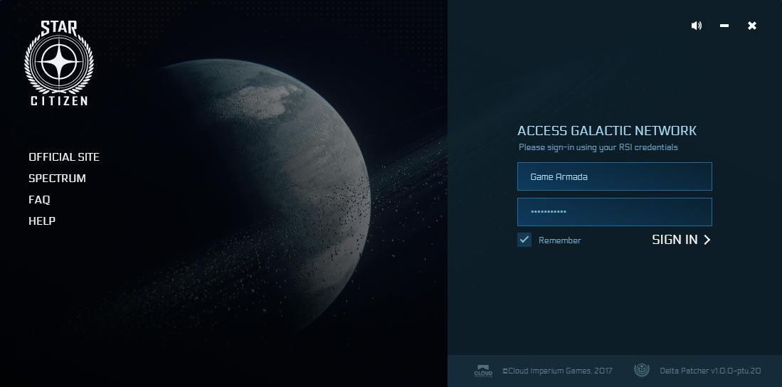 Delta patcher / nowy launcher - panel logowania
