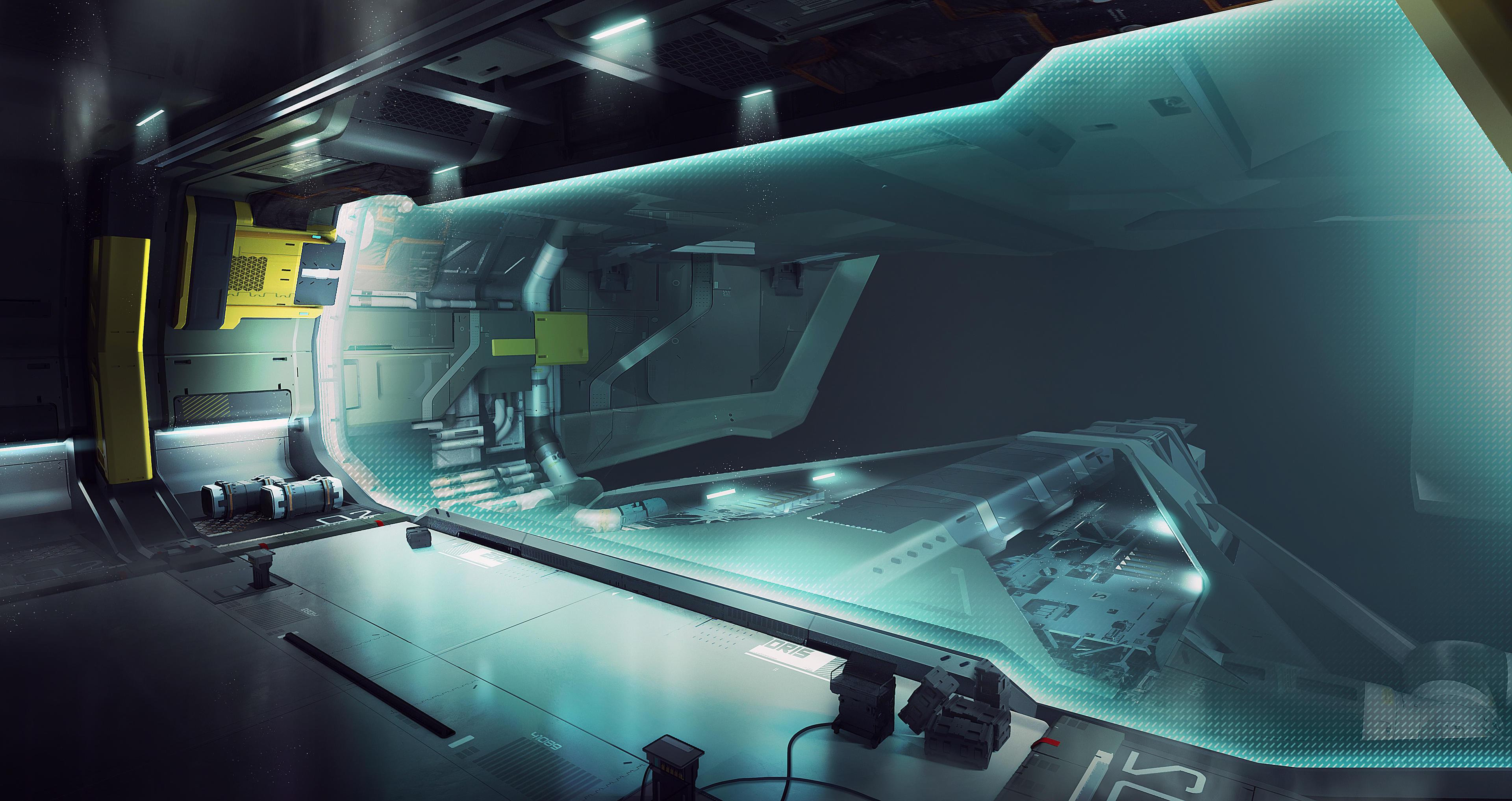 Idris wylot hangaru pole siłowe