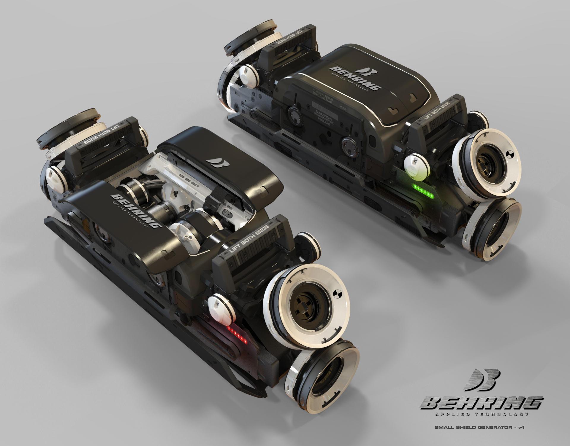 Small shield generator - Komponenty