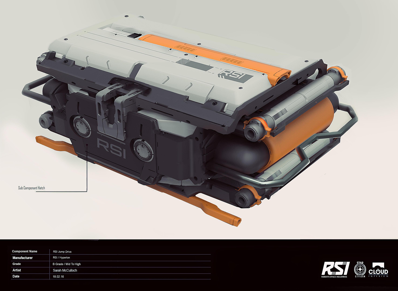 RSI Jump drive - Komponenty