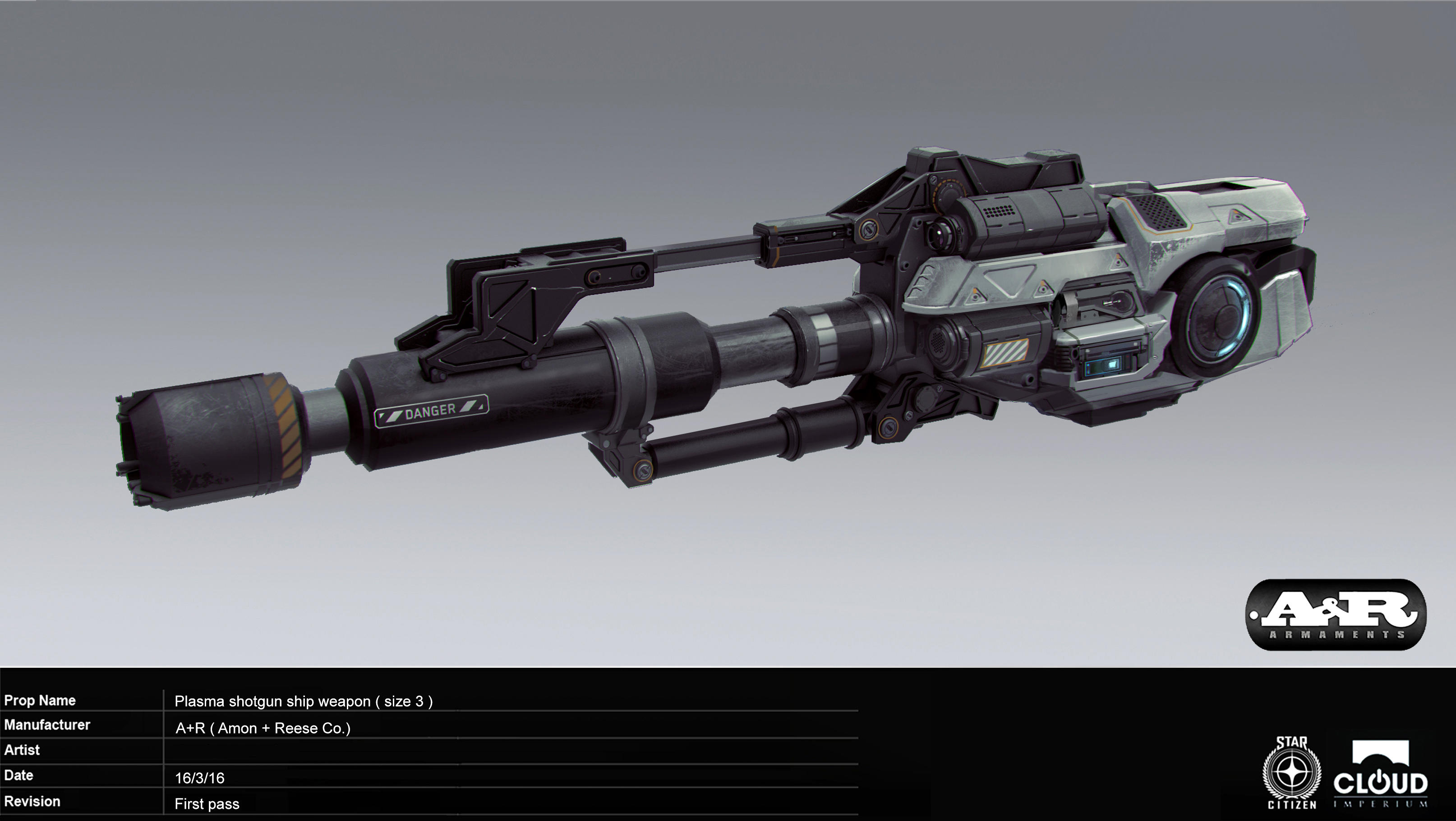 Plasma shotgun ship weapon (size 3)