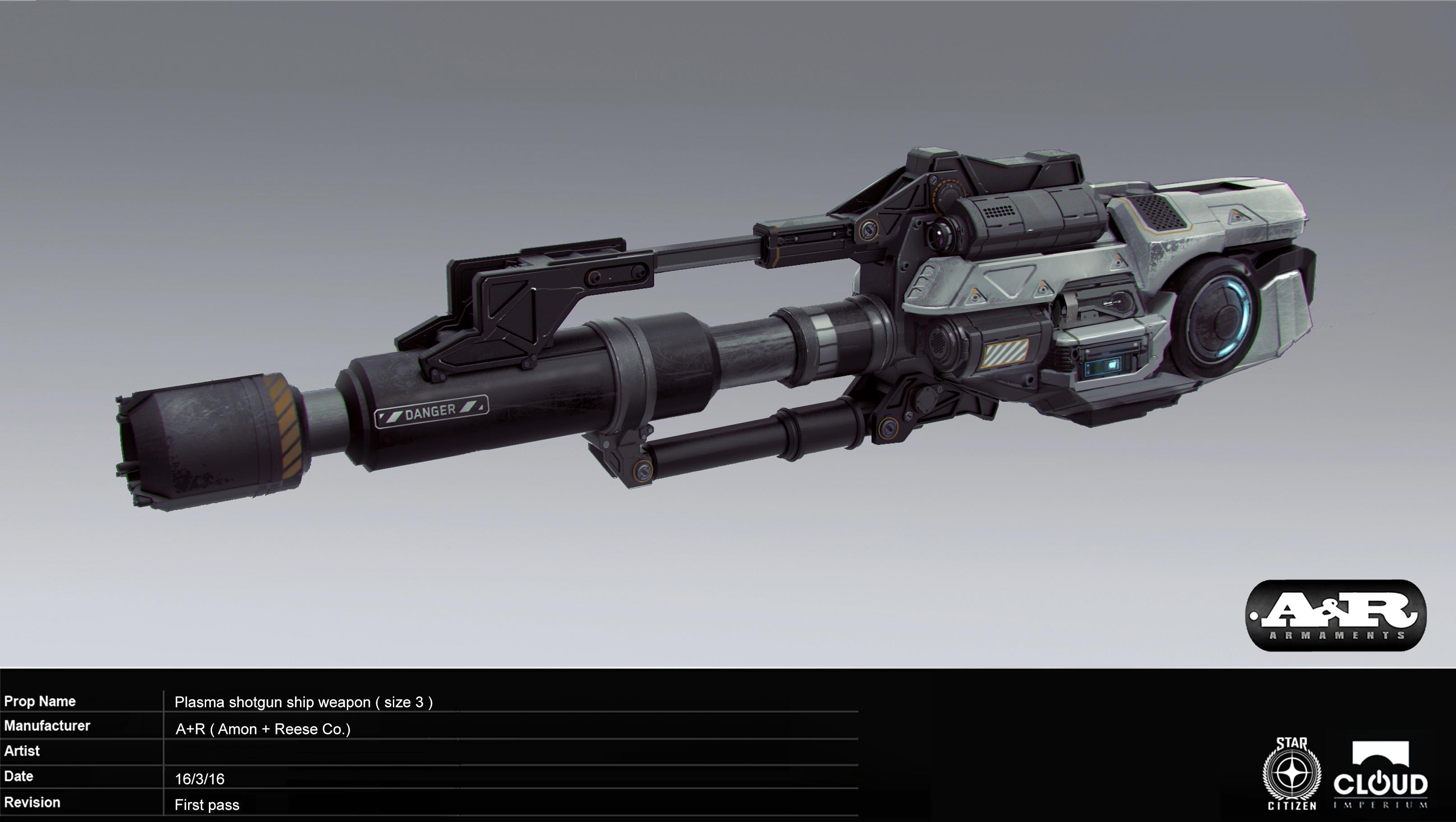 Plasma shotgun ship weapon (size 3)