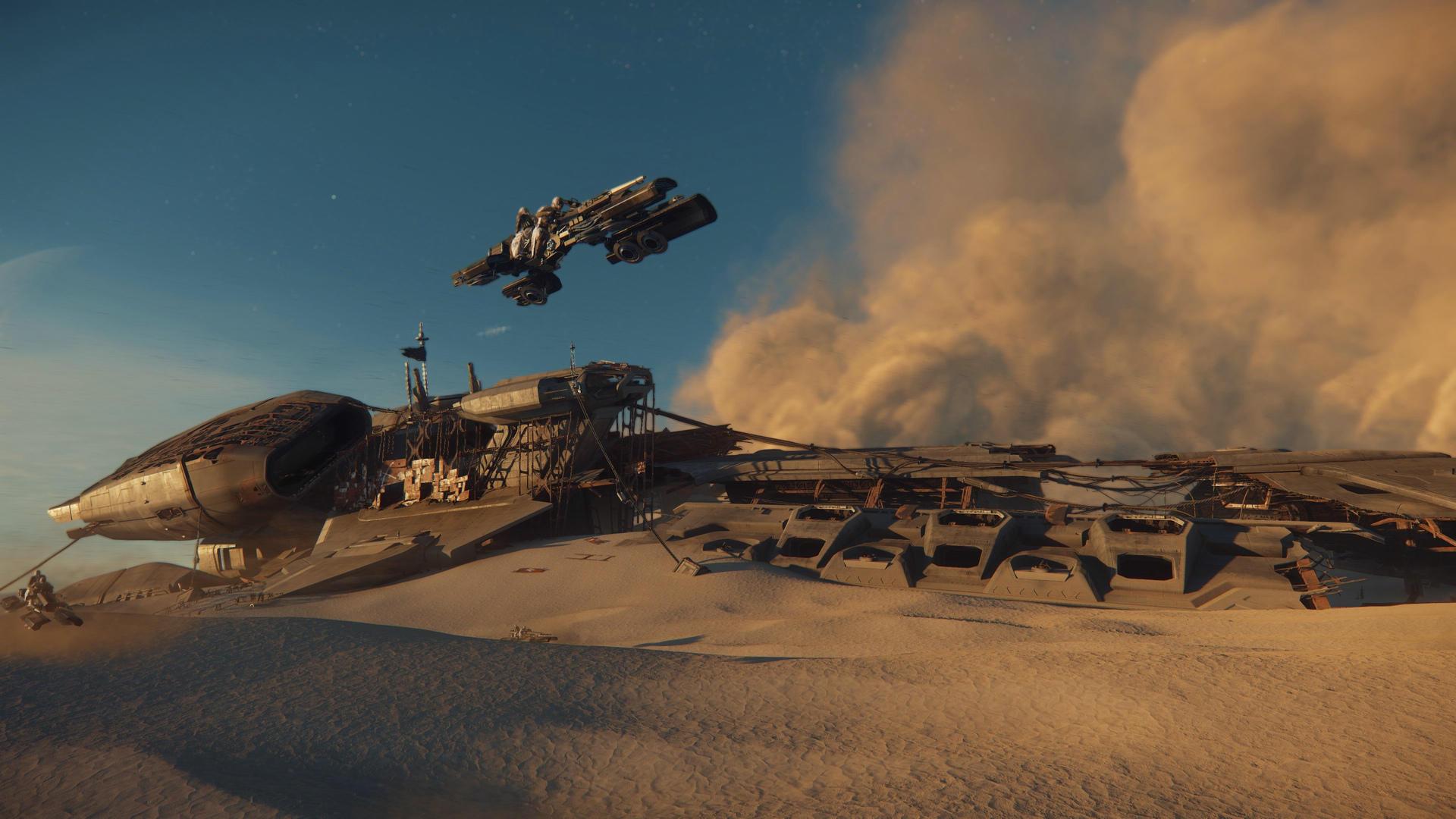 Wrak Javelina, Dragonfly, burza piaskowa