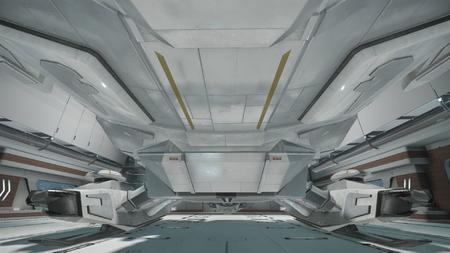 Wygląd zewnętrzny  - widok od strony windy dla załogi w kierunku tyłu