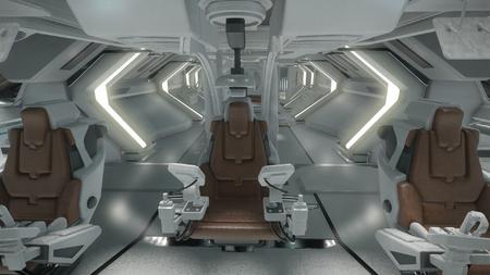 Wygląd wnętrza - fotele załogi w kokpicie