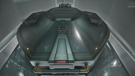 Wygląd wnętrza - siłownia statku - właz prowadzący do myśliwca