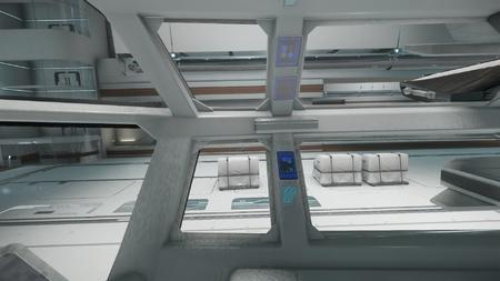 Wygląd wnętrza - widok z prawego fotela członka załogi - na prawo