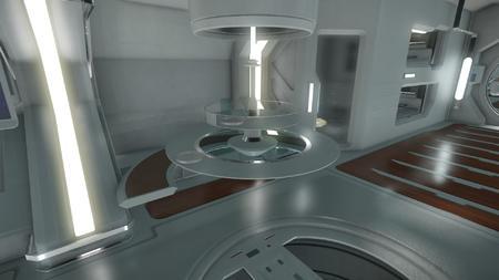 Wygląd wnętrza - główny pokład - sekcja załogi - stół