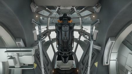 Wygląd wewnętrzny - widok na kokpit od strony sekcji sypialnej