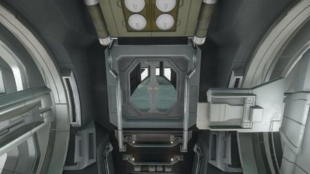 Wygląd wewnętrzny - widok na sekcję sypialną od strony kokpitu