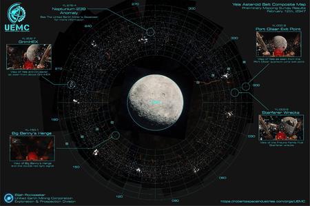 Mapa kompozytowa pasa asteroid Yela