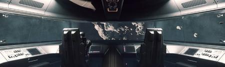 MISC Starfarer - wnętrze i widok z kokpitu