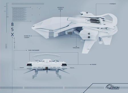 Origin 85X - rysunek techniczny