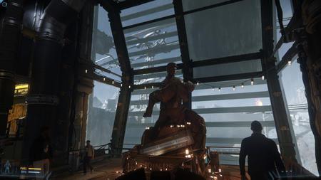 Pomnik w bazie na planecie Delamar
