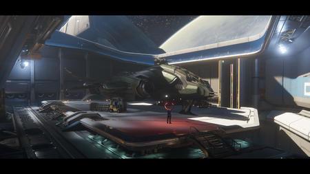 Wnętrze Javelina - hangar