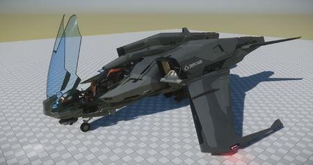 Mustang Alpha - rework, widok z boku